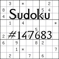 Sudoku №147683