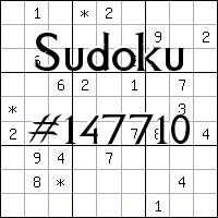 Sudoku №147710