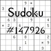 Sudoku №147926