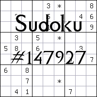 Sudoku №147927