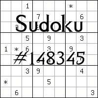 Sudoku №148345