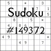 Sudoku №149372