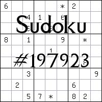 Sudoku №197923