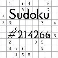 Sudoku №214266