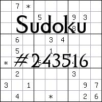 Sudoku №243516