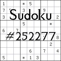 Sudoku №252277
