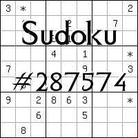 Sudoku №287574
