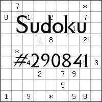 Sudoku №290841
