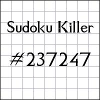 Sudoku Killer №237247