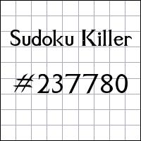 Sudoku Killer №237780