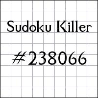Sudoku Killer №238066
