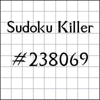 Sudoku Killer №238069