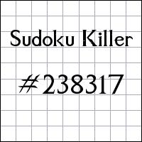 Sudoku Killer №238317