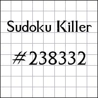Sudoku Killer №238332