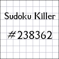 Sudoku Killer №238362