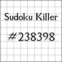 Sudoku Killer №238398