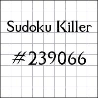 Sudoku Killer №239066