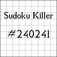 Sudoku Killer №240241