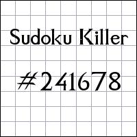 Sudoku Killer №241678
