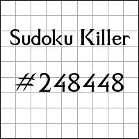 Sudoku Killer №248448