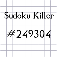Sudoku Killer №249304