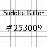Sudoku Killer №253009
