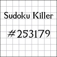 Sudoku Killer №253179