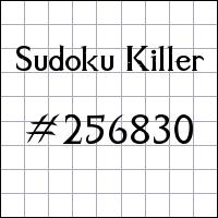 Sudoku Killer №256830