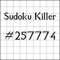 Sudoku Killer №257774