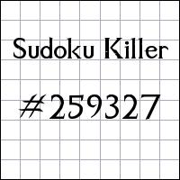 Sudoku Killer №259327