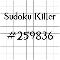 Sudoku Killer №259836