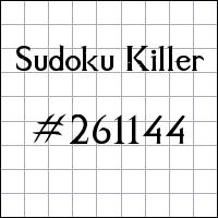 Sudoku Killer №261144
