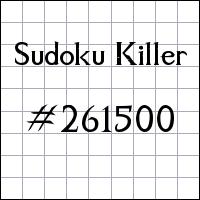 Sudoku Killer №261500