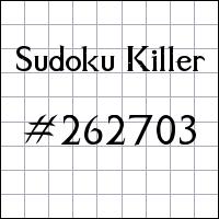 Sudoku Killer №262703