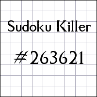 Sudoku Killer №263621