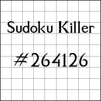 Sudoku Killer №264126
