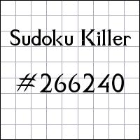 Sudoku Killer №266240