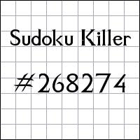 Sudoku Killer №268274