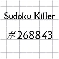 Sudoku Killer №268843