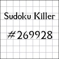 Sudoku Killer №269928