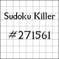 Sudoku Killer №271561