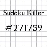 Sudoku Killer №271759