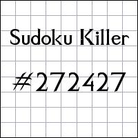 Sudoku Killer №272427