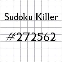 Sudoku Killer №272562