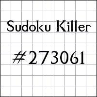 Sudoku Killer №273061