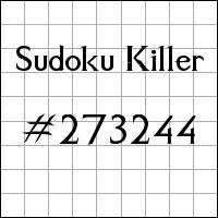 Sudoku Killer №273244