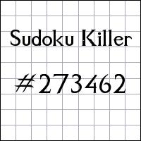 Sudoku Killer №273462