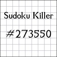 Sudoku Killer №273550