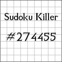 Sudoku Killer №274455