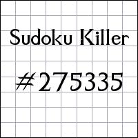 Sudoku Killer №275335